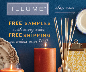 Receive Free Shipping and Free Samples with your purchase of $100 or more at Illume