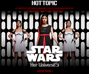 Shop the EXCLUSIVE collection inspired by Star Wars: The Force Awakens at HotTopic.com!