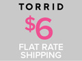 Get $5 Flat Rate Shipping at Torrid.com!