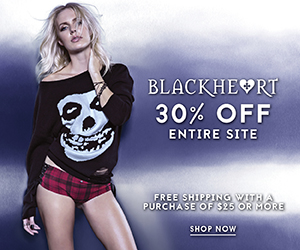 30% Off Site + Free Shipping Over $25 at BlackheartLingerie.com!
