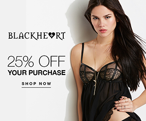 25% Off Your Purchase at BlackheartLingerie.com!