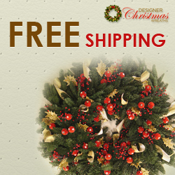 Free Shipping on Designer Christmas Wreaths!