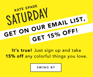 Take 15% off at Saturday.com with email sign up!