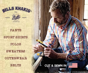 Shop Bill's Khakis for Shirts, Polos, Jeans and Outerwear!