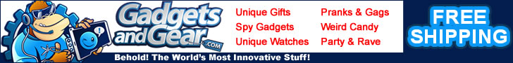 Free Shipping On Unique Gift Ideas at GadgetsandGear.com