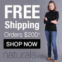 Free shipping on orders over $200 at Naturals!