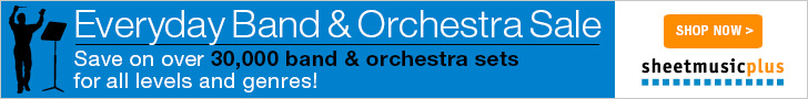 Everyday Band and Orchestra Sale! Save on over 30,000 band and orchestra sets for all levels and genres! Visit sheetmusicplus.com