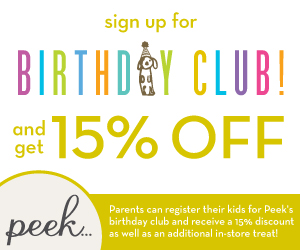 Peek Kids Birthday Club: 15% OFF