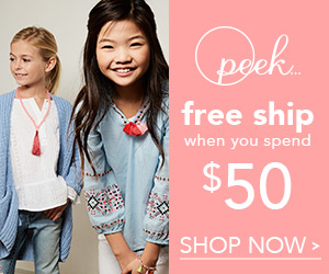 Free Shipping on Orders $50+ at peekkids.com