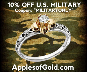 ApplesofGold.com - 10% Year-Round U.S. Military Discount