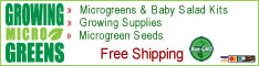 Microgreens Growing Supplies, Kits And Micro Greens Seed