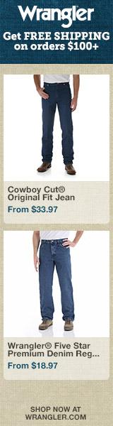Shop men's jeans at Wrangler