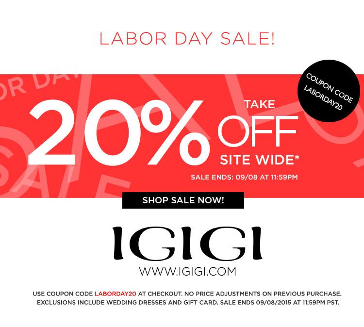 Labor Day Sale IGIGI