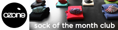 Ozone Socks - Sock of the Month Club - Click Here!