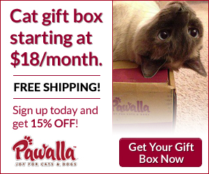Subscribe to Pawalla box and get 15% off. www.pawalla.com/cat