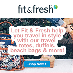 Let Fit & Fresh help you travel in style with our travel totes, duffels, beach bags & more!