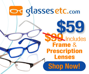 Get Frames and Prescription lenses for only $99!