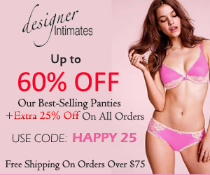 Upto 60% OFF Our Best Selling Panties plus an Extra 25% OFF on all orders