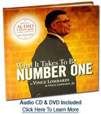What it Takes to Be Number 1 by Vince Lombardi and Vince Lombardi Jr.