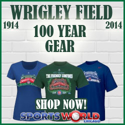 Wrigley Field Chicago Cubs 100 Year Anniversary Apparel and Merchandise