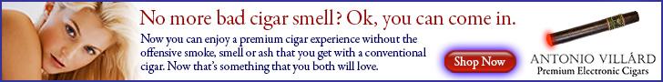 Antonio Villard ecigars _728x90 no bad smell