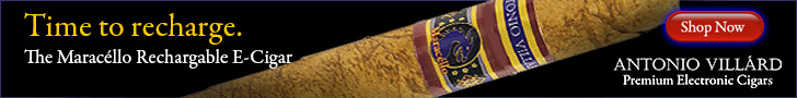 728x90 AntonioVillard Rechargeable e-cigars