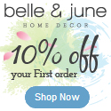 10% Off your first order at belleandjune.com