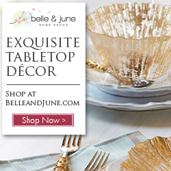 Click Here to get FREE SHIPPING on Luxurious Tabletop Decor at Belleandjune.com and Support The Garden Oracle with Your Purchases!