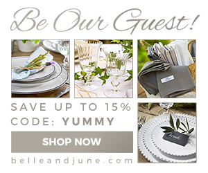 Be Our Guest! Save up to 15% on luxury tableware at www.belleandjune.com