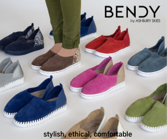 Modern comfortable an ethically made shoe for women