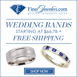 Wedding bands starting at $66.78 + free shipping at FineJewelers.com!