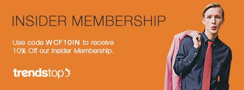 wcf 10% off, insider membership