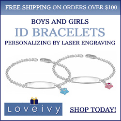 Shop Personalized ID Bracelets at Loveivy.com!