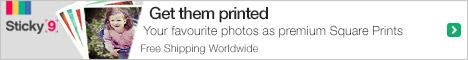 Your favorite photos as premium Square Prints