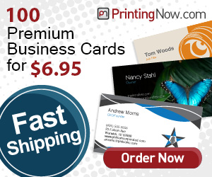 Great deal for 100 business cards!