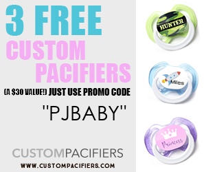 Get 3 Free Pacifiers- Custom Name, Colors, More!