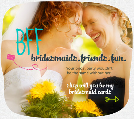 Shop Bridemaids Cards!