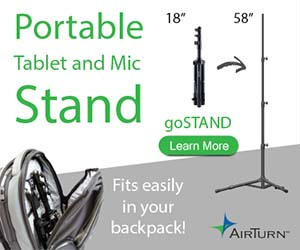 AirTurn's Portable goSTAND for Presenters, Educators and Musicians