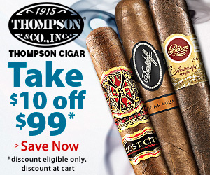 $10 Off $99 at Thompson Cigar