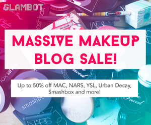 Save up to 50% on Makeup via Glambot.com!
