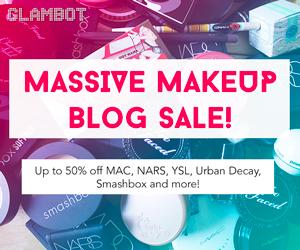 Save up to 50% on Makeup via Glambot.com!