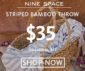 Striped Bamboo Throws