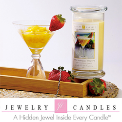 jewelry candles, candles, jewelry, home