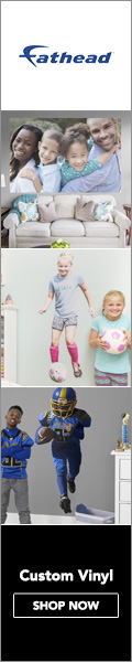 Shop Custom Removable Vinyls from Fathead! Turn your photos into professional prints, decals, & murals - Click Here!