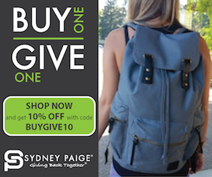Sydney Paige Buy Give Backpack