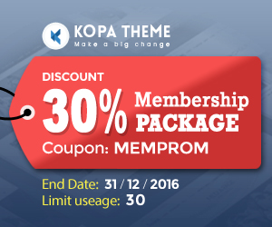 kopatheme.com - Get 30% OFF our membership packages