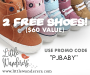 Code PJBABY: 2 Free Pairs of Baby Shoes or $60 Off