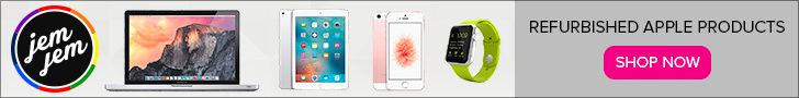 Free Standard Shipping on All Purchases at JemJem! Limited time offer. Shop refurbished iPhones, iPads and more!