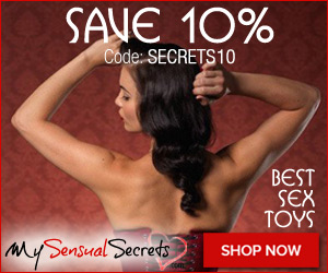 Save 10% Off Sitewide at MySensualSecrets.com! Free Shipping over $49!