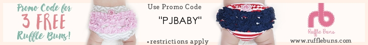 3 Free Rufflebuns with code PJBABY